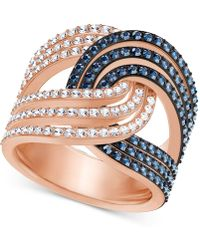 Swarovski - Rose Gold-tone Crystal Knot Ring - Lyst