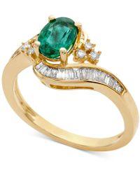 Macy's - Emerald (7/8 Ct. T.w.) & Diamond (3/8 Ct. T.w.) Ring (also In Sapphire & Tanzanite) - Lyst