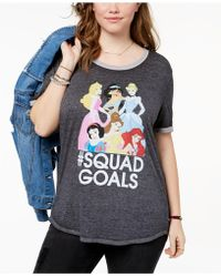 Hybrid Plus Size Disney Princess T-shirt - Gray
