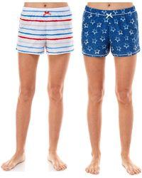 Roudelain 2-pk. Printed Sleep Shorts - Blue