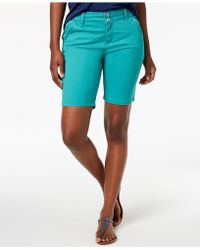 Lee Platinum - Petite Twill Shorts - Lyst
