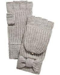 Kate Spade Bow Pop Top Gloves - Gray