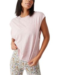 Cotton On Lifestyle Slouchy Muscle Tank Top - Pink