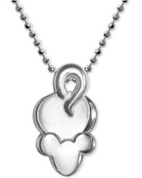 "Alex Woo - Mini Mouse Pendant 16"" Necklace In Sterling Silver - Lyst"