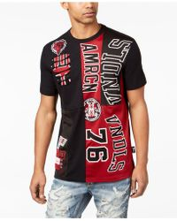 Heritage America Colorblocked Patch T-shirt - Red