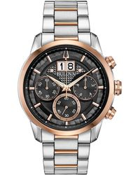 Bulova - Chronograph Sutton Two-tone Stainless Steel Bracelet Watch 44mm - Lyst