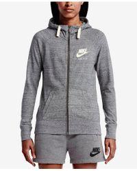 Nike Cotton Gym Vintage Full zip Hoodie in Blue Lyst