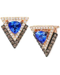 Le Vian - Neo Geo Collection Tanzanite (4/5 Ct. T.w.) And Diamond (1/2 Ct. T.w.) Geometric Stud Earrings In 14k Rose Gold - Lyst