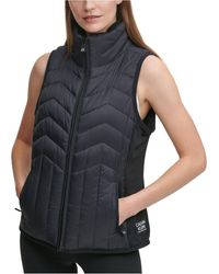 Calvin Klein Performance Colorblocked Puffer Vest - Black