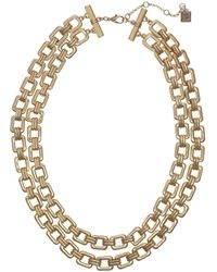 Laundry by Shelli Segal - Two-row Chain Necklace - Lyst
