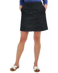 Karen Scott Petite Ribbed-waistband Skort, Created For Macy's - Black