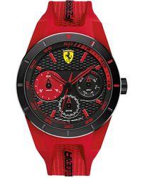 Ferrari - Men's Redrev T Red Silicone Strap Watch 44mm 830258 - Lyst