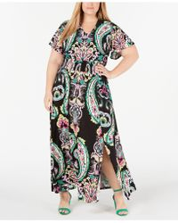 INC International Concepts - I.n.c. Plus Size Printed Smocked-waist Maxi Dress, Created For Macy's - Lyst