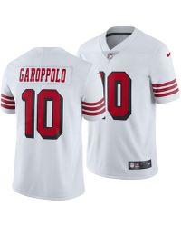 buy popular f2757 246bf Nike Synthetic Jimmy Garoppolo San Francisco 49ers Vapor ...
