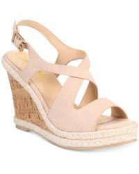 Callisto - Brielle Espadrille Platform Wedge Sandals - Lyst