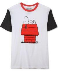Jem - Lounging Snoopy Short-sleeve T-shirt - Lyst