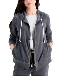 Style & Co. Zip Hoodie Sweatshirt, Created For Macy's - Gray