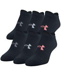 Under Armour - 6-pk. Essential No-show Socks - Lyst