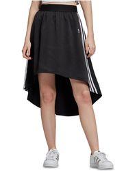 5540fd102702b adidas Originals Originals Ribbed Wrapover Maxi Skirt in Black - Lyst