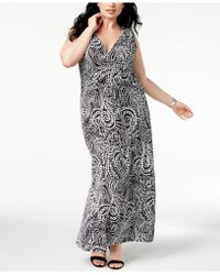 Charter Club Plus Size Printed Maxi Dress, Created For Macy's - Black