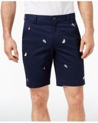 """Brooks Brothers - Stretch Oyster Embroidered 9"""" Twill Shorts - Lyst"""