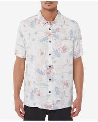 O'neill Sportswear - Freedom Americana Printed Shirt - Lyst