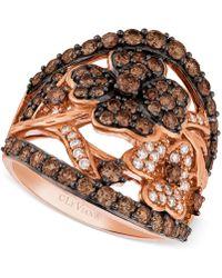 Le Vian - Diamond Flower Ring (1-3/4 Ct. T.w.) In 14k Rose Gold - Lyst