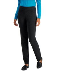 Charter Club Tummy-control Pants, Created For Macy's - Black