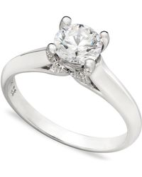 X3 - Certified Diamond Solitaire Engagement Ring In 18k White Gold (3/4 Ct. T.w.) - Lyst