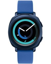 Samsung - Unisex Blue Rubber Strap Touchscreen Smart Watch 42.9mm - Lyst