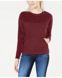Lacoste - Long-sleeve Velvet Mix Sweatshirt - Lyst