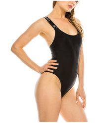Kendall + Kylie Brand Band One-piece Swimsuit - Black