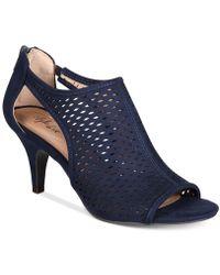 Style & Co. Haddiee Peep-toe Ankle Shooties - Blue