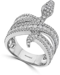 Effy Effy® Diamond Snake Ring (1-1/2 Ct. T.w.) In 14k White Gold - Metallic