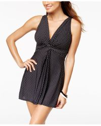 Miraclesuit - Pin-point Marais Allover Slimming Swimdress - Lyst