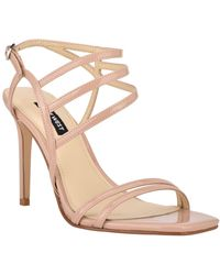 Nine West Zana Strappy Evening Stiletto Dress Sandals - Natural