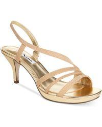 Nina - Neely Asymmetircal Evening Sandals - Lyst