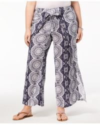 Style & Co. - Plus Size Printed High-rise Wide-leg Pants, Created For Macy's - Lyst