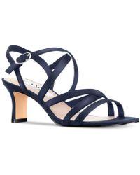 Nina Genaya Strappy Evening Sandals - Blue