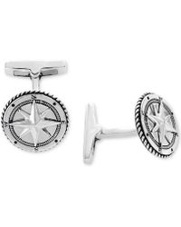 Effy Collection - Rope-style Compass Cuff Links Sterling Silver - Lyst
