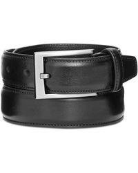 "Alfani 1 1/4"" Feather Edge Stitch Dress Belt, Created For Macy's - Black"