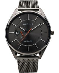 Bering Automatic Multifunction Stainless Steel Mesh Watch - Gray