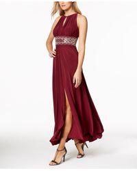 R & M Richards - Dress, Sleeveless Beaded Evening Gown - Lyst