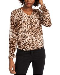 Maison Jules Leopard Print Top, Created For Macy's - Brown
