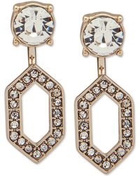 Ivanka Trump - Gold-tone Crystal Front & Back Earrings - Lyst