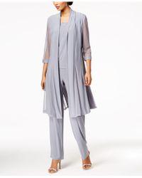 R & M Richards | 3-pc. Glitter-print Pantsuit & Shell | Lyst