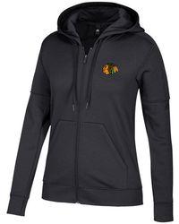 7df72d363c0 adidas - Chicago Blackhawks Logo Stitched Full-zip Hooded Sweatshirt - Lyst