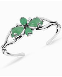 Carolyn Pollack - Green Jade Cuff Bracelet In Sterling Silver - Lyst