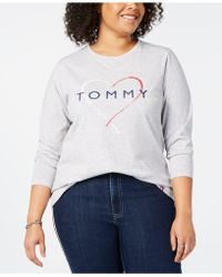787132ed6ee Tommy Hilfiger - Sport Plus Size Logo-print Long-sleeve T-shirt -