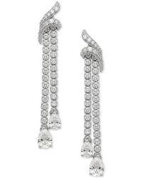 Macy's - Swarovski Zirconia Drop Earrings In Sterling Silver - Lyst